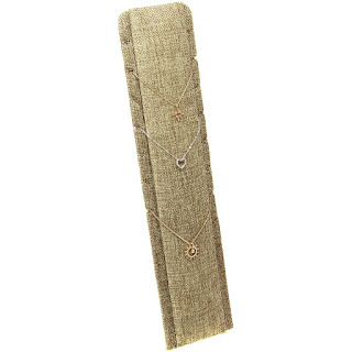 The Burlap Multi-Necklace Stand from Nile Corp features a minimalist design