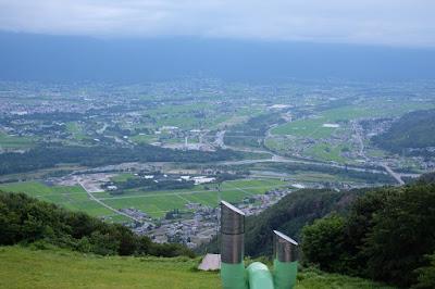 長峰山休憩展望台 西側の景色