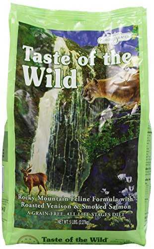 Sapore del cibu gatti secco senza cereali selvatici ad alto contenuto proteico rocky mountain premium