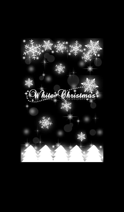 White snow Christmas