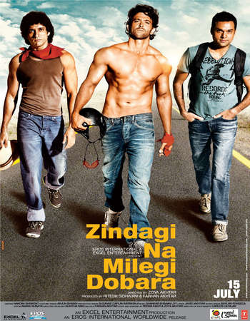 Poster Of Zindagi Na Milegi Dobara 2011 Hindi 450MB BRRip 720p ESubs HEVC Watch Online Free Download Worldfree4u