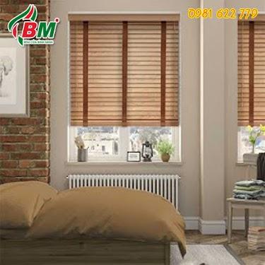 Rèm sáo gỗ tự nhiên allplus bình minh cho cửa sổ đẹp công trình thi công tại phước long.