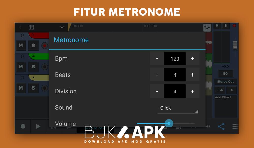 Fitur metronome untuk membuat musik lebih rapi