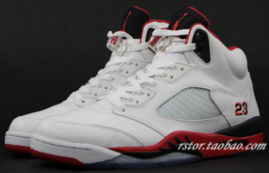 the best attitude a2e8d 4f147 Air Jordan 5 Retro White Fire Red-Black August 2013