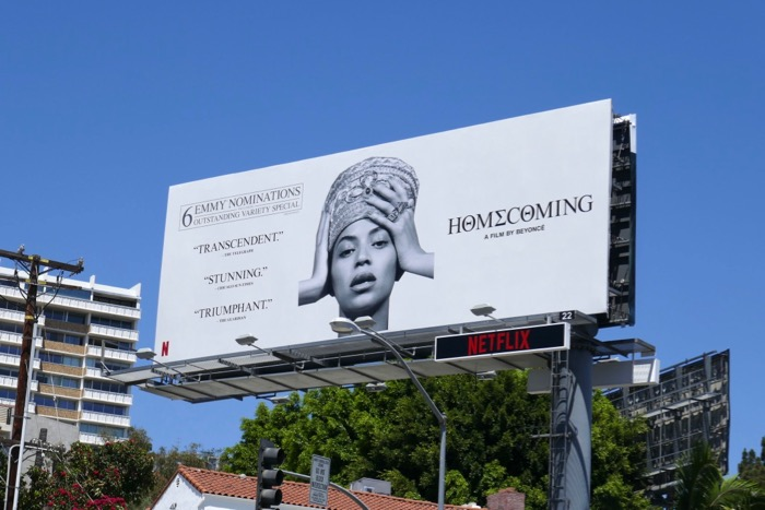 Beyonce Homecoming 2019 Emmy nominee billboard