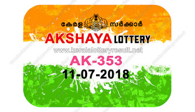 KeralaLotteryResult.net, kerala lottery result 11.7.2018 akshaya AK 353 11 july 2018 result , kerala lottery kl result , yesterday lottery results , lotteries results , keralalotteries , kerala lottery , keralalotteryresult , kerala lottery result , kerala lottery result live , kerala lottery today , kerala lottery result today , kerala lottery results today , today kerala lottery result , 11 07 2018 11.07.2018 , kerala lottery result 11-07-2018 , akshaya lottery results , kerala lottery result today akshaya , akshaya lottery result , kerala lottery result akshaya today , kerala lottery akshaya today result , akshaya kerala lottery result , akshaya lottery AK 353 results 11-7-2018 , akshaya lottery AK 353 , live akshaya lottery AK-353 , akshaya lottery , 11/7/2018 kerala lottery today result akshaya , 11/07/2018 akshaya lottery AK-353 , today akshaya lottery result , akshaya lottery today result , akshaya lottery results today , today kerala lottery result akshaya , kerala lottery results today akshaya , akshaya lottery today , today lottery result akshaya , akshaya lottery result today , kerala lottery bumper result , kerala lottery result yesterday , kerala online lottery results , kerala lottery draw kerala lottery results , kerala state lottery today , kerala lottare , lottery today , kerala lottery today draw result,