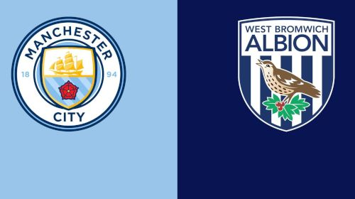 Which channel is broadcasting Manchester City v West Bromwich in the Premier League?