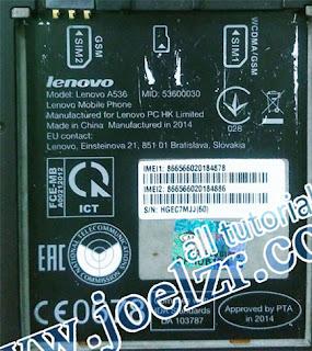 ROM Lenovo A536 firmware A536_S186_150813