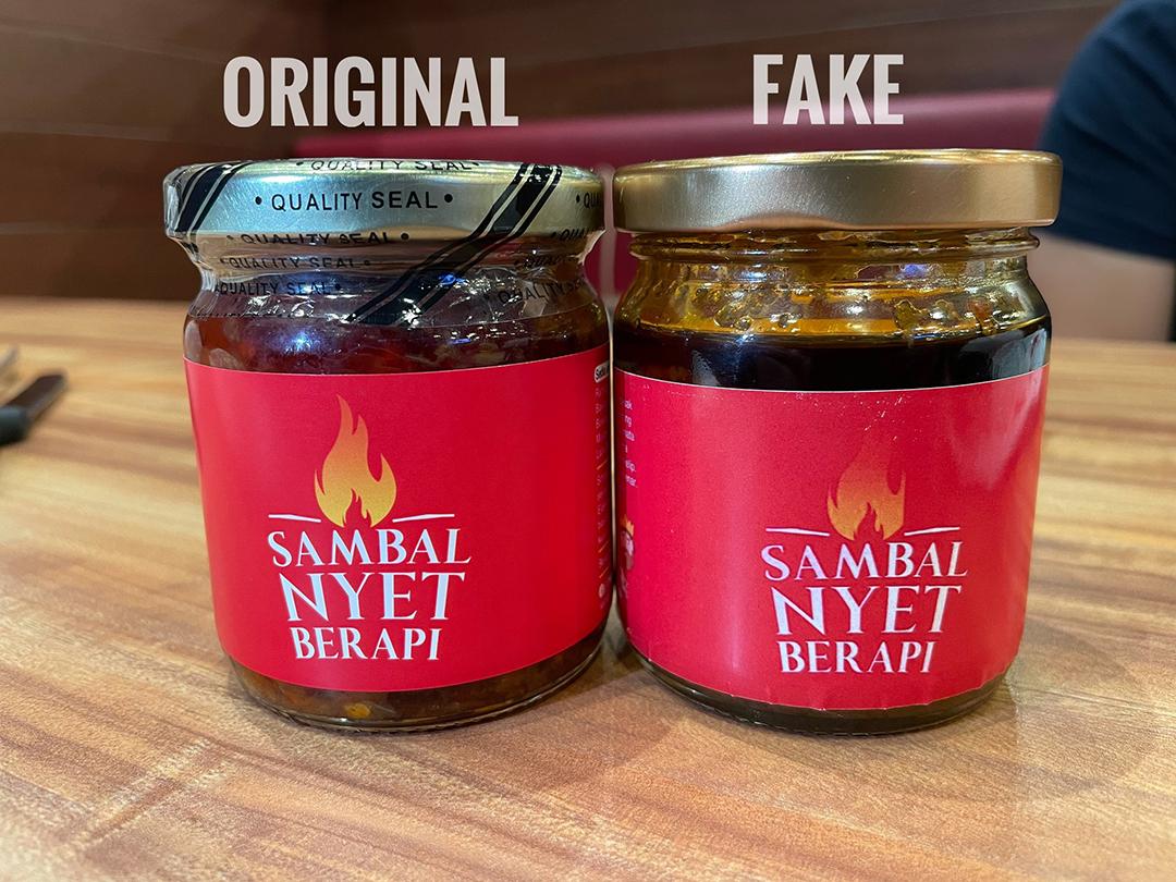 Sambal Nyet Khairulaming original vs fake