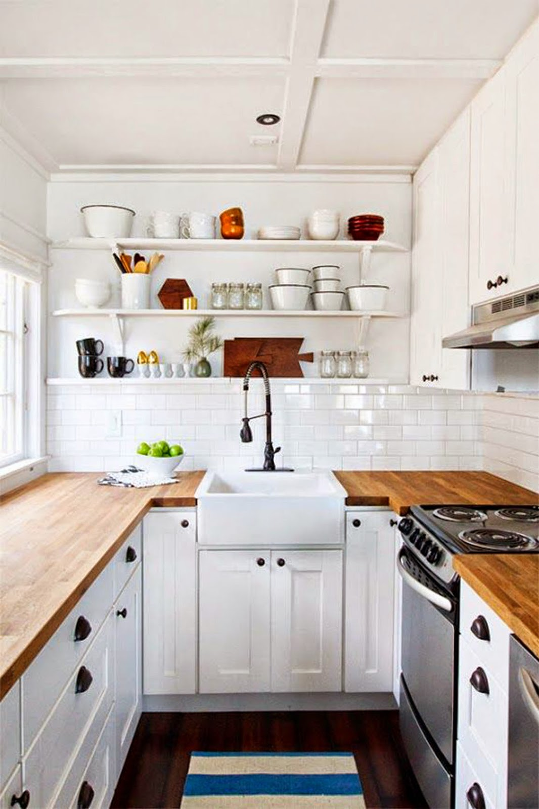 High Quality Pretty Soon It Became Apparent That I Was Leaning Towards A Particular Look  U2014 White Cabinets And Subway Tile, Paired With Butcher Block Countertops: