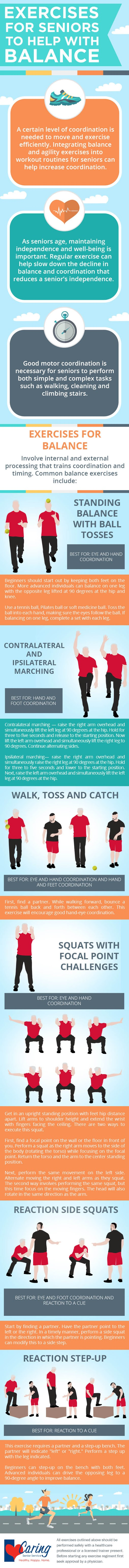 Exercises for Seniors to Help with Balance #infographic #Health & Fitness #Exercise #Exercises for Seniors