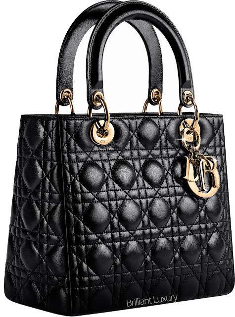 ♦Dior classic black Lady Dior cannage stitching bag #dior #bags #ladydior #brilliantluxury