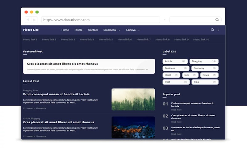 Fletro Lite Premium Blogger Template - Responsive Blogger Template