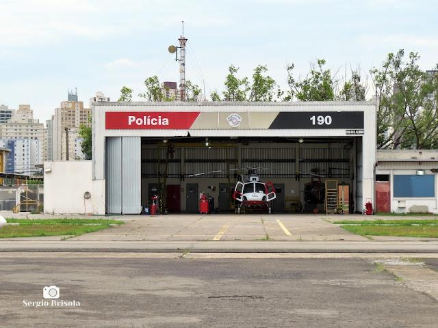 Vista ampla do Hangar de manutenção dos Águias - Polícia Militar de SP - Santana - São Paulo