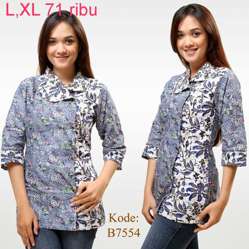 Model Baju Batik Terbaru: Model Baju Atasan Batik Wanita Modern