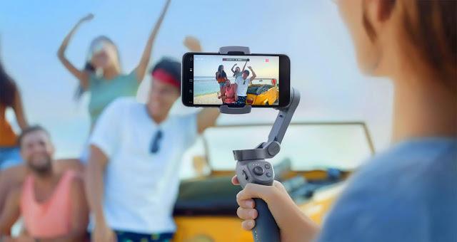 DJI Osmo Mobile 3 Grey Handheld Smartphone Gimbal Rental Trivandrum kerala MOB 9847130192