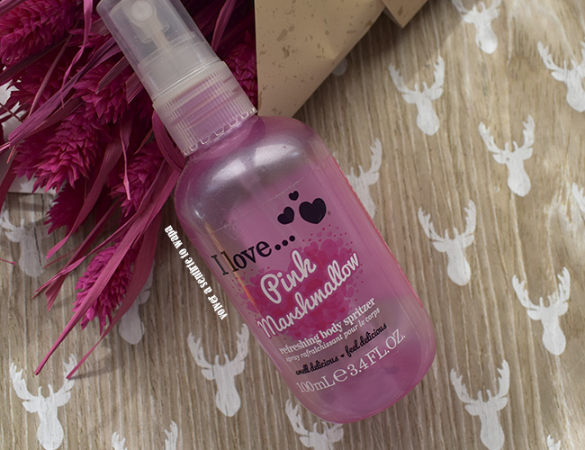 Body mist (spray corporal) de I Love ... Pink Marshmallow