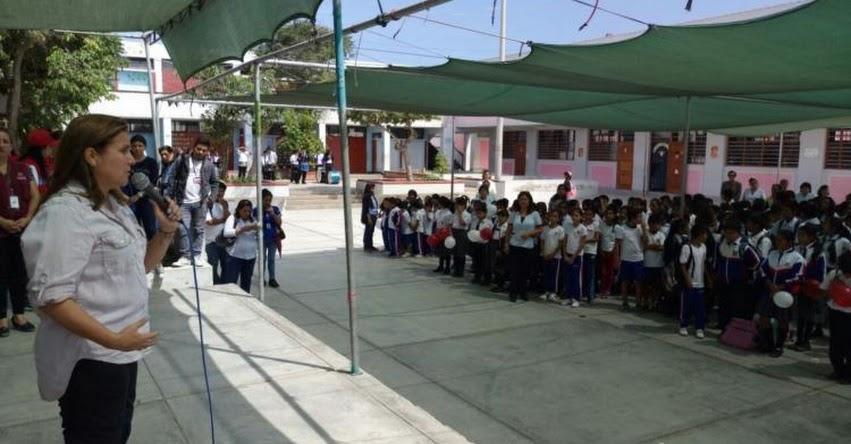 Ministra de Justicia lidera campaña contra el bullying y pandillaje en Chimbote - Áncash