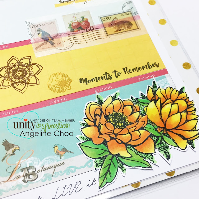 Unity Stamp: KOM Monday with Angeline #unitystampco #scrappyscrappy #happyplanner #plannerlayout #kom #stamp #stamping #papercraft