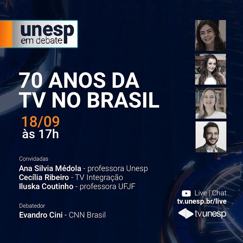 TV UNESP: Live 70 anos da TV no Brasil