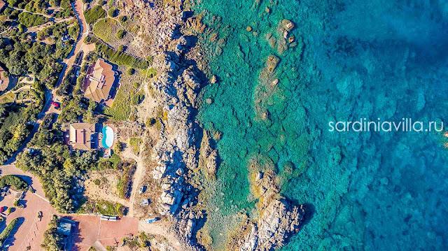 Сардиния вилла люкс на первой линии аренда