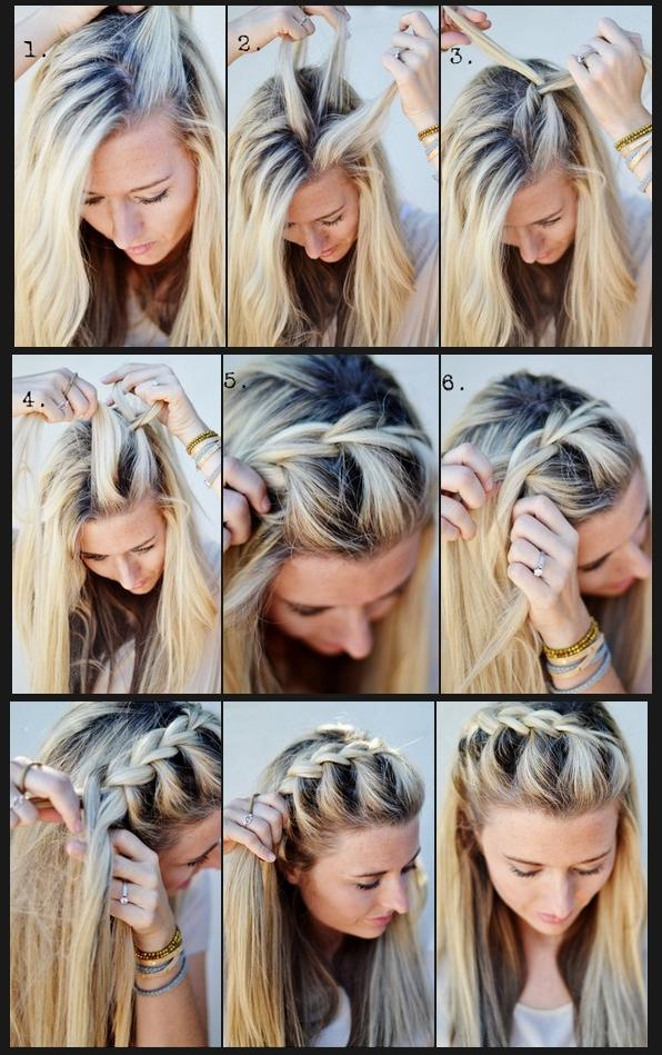 Swell Hairstyles How To French Braid Half Up Side Short Hairstyles Gunalazisus