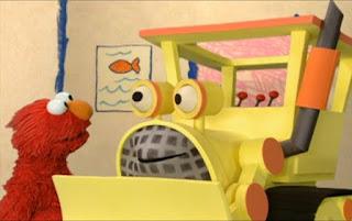 Elmo interviews a bulldozer. Sesame Street Elmo's World Building Things Interview