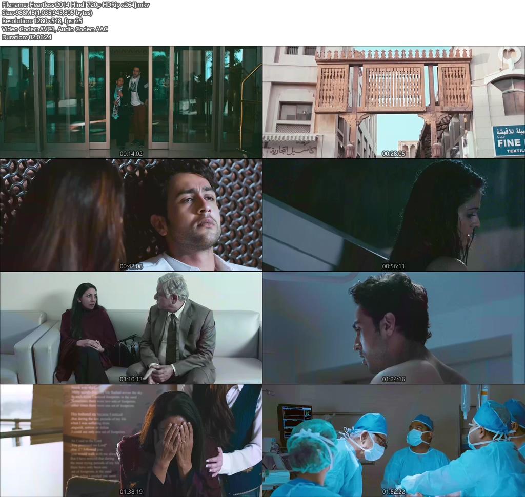 Heartless 2014 Hindi 720p HDRip x264 | 480p 300MB | 100MB HEVC Screenshot