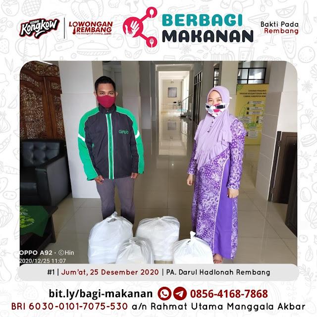 Dokumentasi Berbagi Makanan Ke-9 Dari Kedai Kongkow Rembang Dan Lowongan Rembang