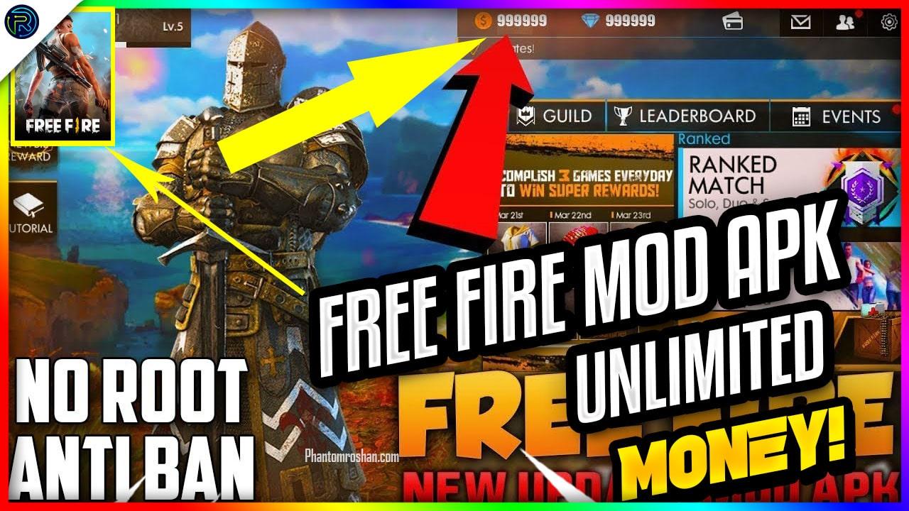 Freefire Mod Apk 2019 v1.39.1 (Godmode, Aimbot, Rapidfire ... -
