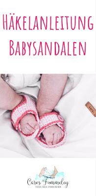 Häkelanleitung für einfache Babysandelen - Anfängertauglich