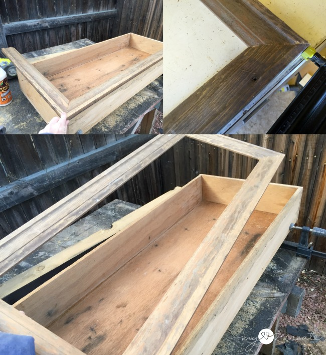 adding a front for the cabinet