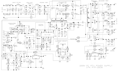 simple 200w atx pc power supply circuit diagram. Black Bedroom Furniture Sets. Home Design Ideas