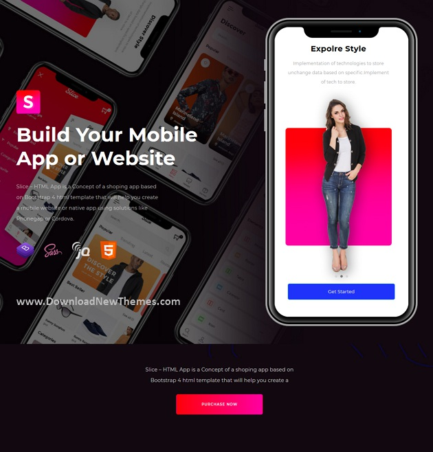 Slice - Mobile eCommerce HTML Template
