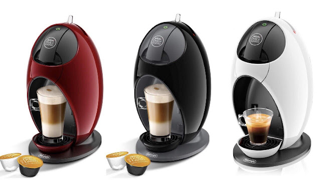 Nescafe Dolce Gusto Coffee Machines in red, black and white
