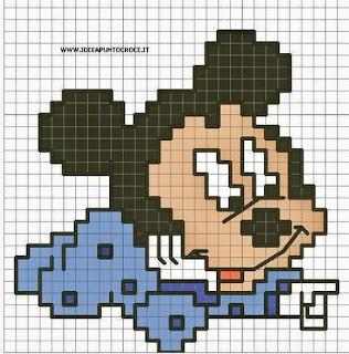 Motivi a punto croce Disney- minni, topolino, pippo e paperina