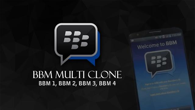 BBM Multi Clone Terbaru (BBM 1, BBM 2, BBM 3, BBM 4) Untuk Android