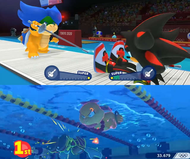 Mario & Sonic at the Olympic Games tokyo 2020 Ludwig fencing Wendy O. Koopa swimming