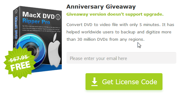 MacX DVD Ripper Pro Free License Key Giveaway