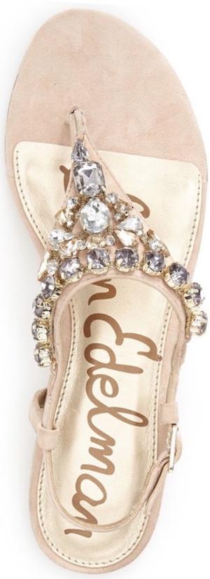 Sam Edelman 'Dayton' Embellished Sandal soft nude