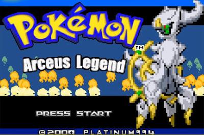 Pokemon Arceus Legend para GBA Imagen Portada
