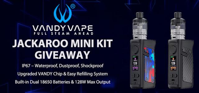 Win Free Vandy Vape Jackaroo Mini Kit with our Vaping Giveaways!