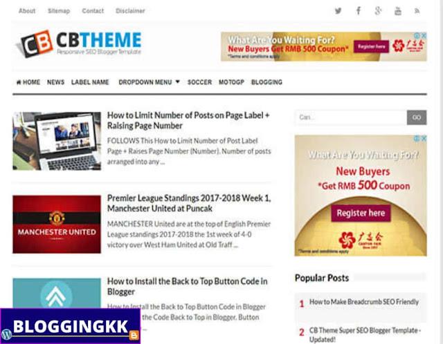 1. CB Blogger Theme