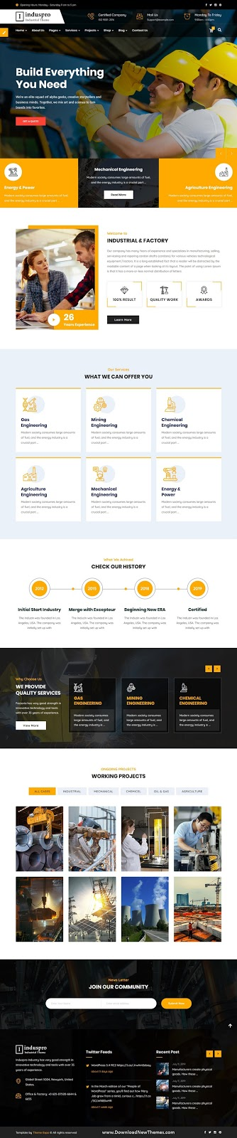 Best Factory and Industrial WordPress Theme