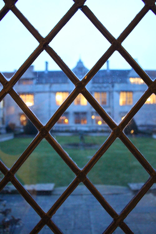 Rushton Hall at dusk, Northamptonshire - UK luxury travel blog