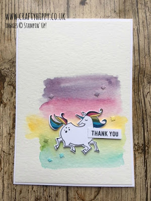 Create this simple and easy Magical Rainbow Unicorn Card by Stampin' Up!