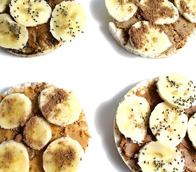 Oppskrift Riskaker Banan Peanøttsmør Snacks Ettertreningsmåltid