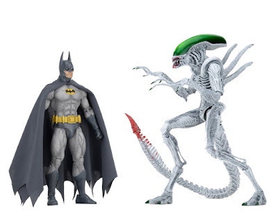 New York Comic Con 2019 Exclusive Batman vs Joker Alien Action Figure 2 Pack by NECA x DC Comics x Dark Horse