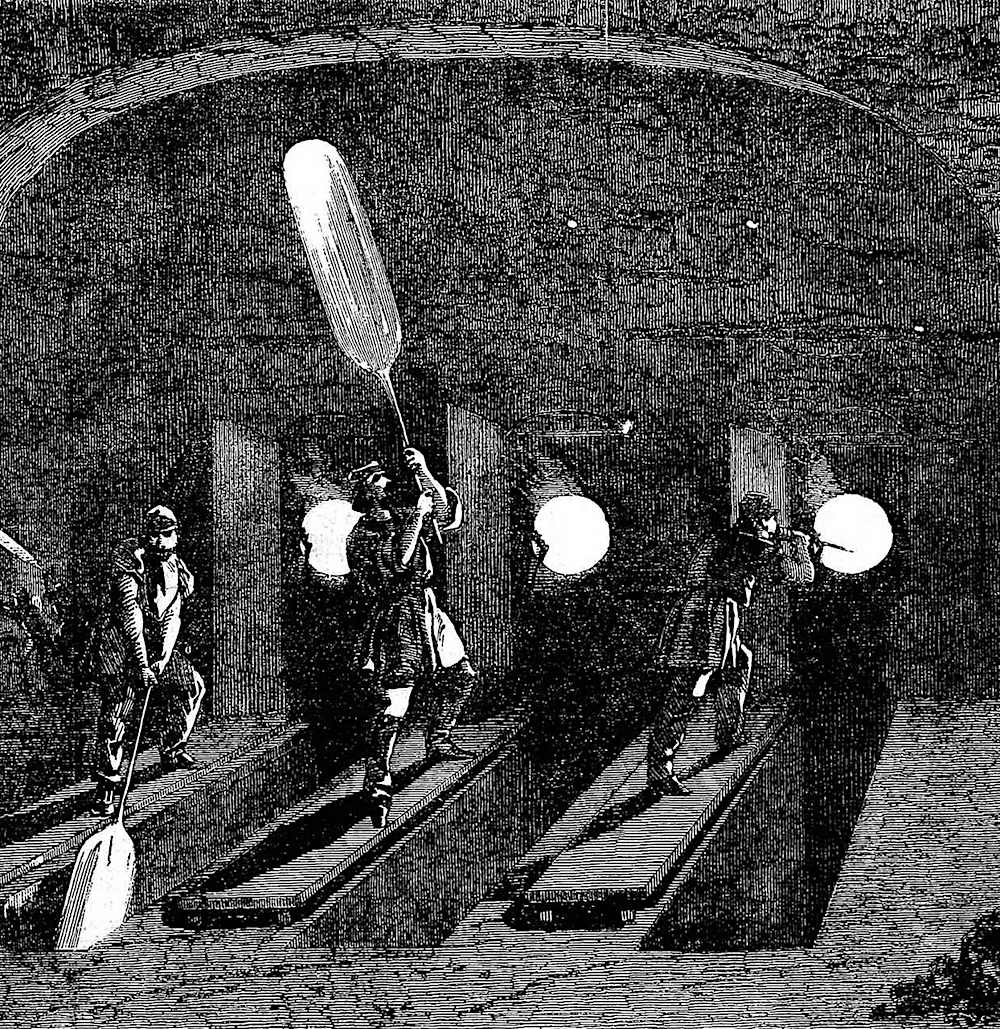 A glass-blowing performance at the 1851 Great Exhibition of London