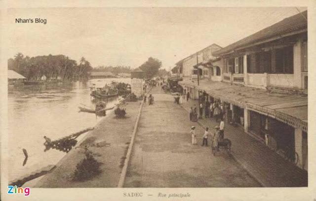 Đường Nguyễn Huệ Sa Đéc xưa
